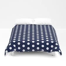 navy blue polka dots minimal duvet