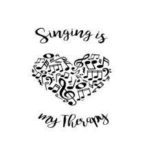 Singing Is My Therapy Music Decal Music Heart Music Gift Car Decal Laptop Computer Coffe Cup Yeti Cup Personalized Monogram