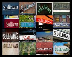 SULLIVAN Name Poster featuring photos of actual signs | eBay