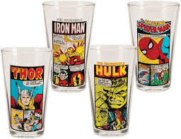 vandor 26212 marvel comics 4 pc 16 oz