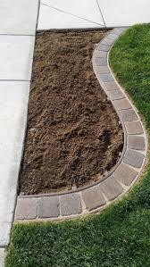 garden edging with stone brick corner