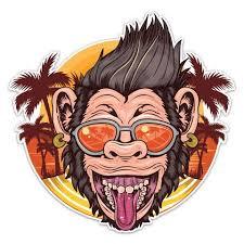 Monkey Vinyl Decal By Cj Bella Co Cj Bella Co