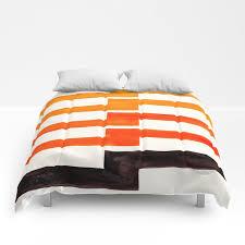 orange black geometric minimal mid