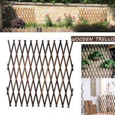 Renoble Wooden Trellis Fence Panels Plants Climbing Frame Natural Expandable Flower Stand Foldable Support Garden Fence Decoration Wall Storage Rack For Balcony Wedding 43cm 50cm Height Amazon Co Uk Kitchen Home