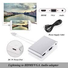 Cáp Lightning to HDMI + VGA cho iPhone , iPad