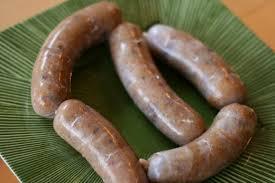 fresh homemade polish kielbasa sausage