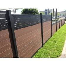 Infinity Actual 0 41 Ft X 5 916 Ft King Cedar Composite Composite Fence Panel Lowes Com In 2020 Fence Panels Rustic Stairs Wood Fence