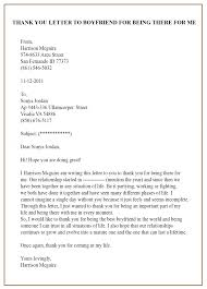 format of sample thank you letter template for boyfriend