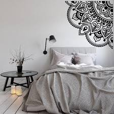 New Quarter Mandala Wall Decal Bohemian Bedroom Decor Etsy Bedroom Decor Wall Stickers Mandala Bohemian Bedroom Decor