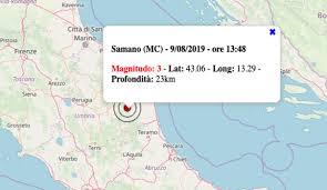 Terremoto oggi 9 agosto 2019: nel pomeriggio scossa M 3.0 nelle ...
