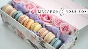 diy rose box with macarons easy