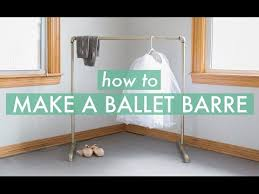 how to make a ballet barre you