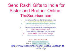 send rakhi gifts to india for sister