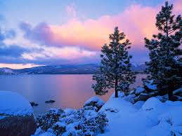 free photo winter scene blue