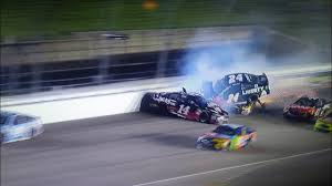 William Byron wrecks and ends up on top of Ryan Newman-Kansas 2018 - YouTube