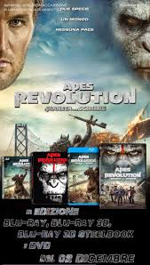 Blu-ray & Dvd Italia: Apes Revolution - Il Pianeta delle Scimmie ...