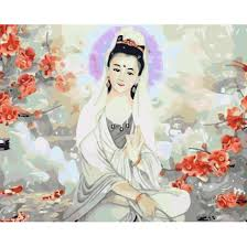 Tranh Tô Màu Theo Số 36 Màu Phật Giáo - Quan Âm Bồ Tát