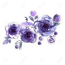 Linda Acuarela Pintada A Mano Rosas Azules Invitacion Tarjeta De