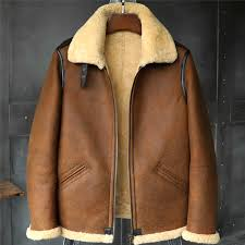 b3 men s shearling jacket flight jacket