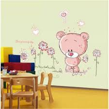 Pink Removable Bear Vinyl Decor Art Mural Wall Stickers Decal Kids Baby N Swh