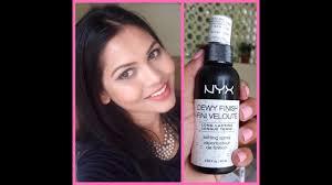 nyx dewy setting spray review mou
