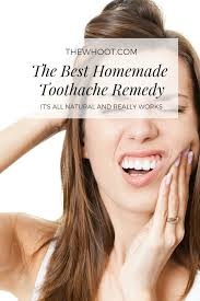 the best diy homemade toothache remedy