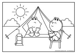 Frokkie En Lola Op Vakantie Met De Tent Kleurplaten Kamperen