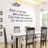 Dining Room Wall Decor Dining Room Ideas Simple Stencil Quote Decals