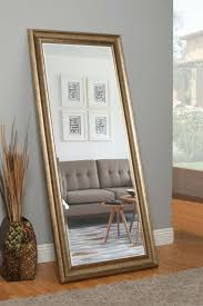 antique gold full length leaner mirror