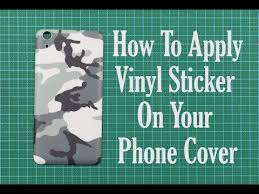 Diy How To Apply Vinyl Sticker On Phone Cover Youtube