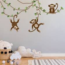 Large Monkey Wall Decals Jungle Monkey Wall Stickers Nursery Wall De