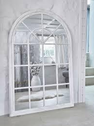 arched loft style window mirror