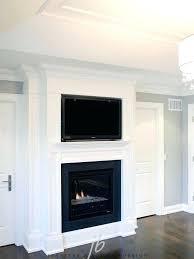 flat screen tv over fireplace design