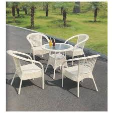 white standard outdoor chair set rs