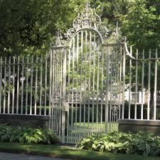 China Price Small Garden Yard Outdoor Front Iron Fence Design Ifg 17 China Iron Fence Wrought Iron Fence