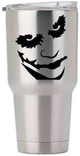 Amazon Com Joker Face Decal Only For Stainless Steel Tumbler Tumblers Water Glasses