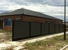 Colorbond Fence Panel With 100x100mm Posts And Steel Plinth Fence Panels Fence Plinths