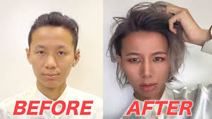 asian man before and after makeup
