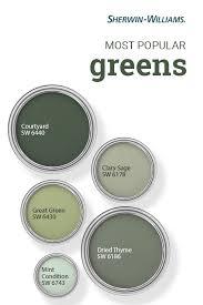 popular green paint colors paint
