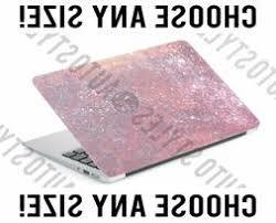 Hot Pink Ombre Glitter Laptop Skin Decal Sticker