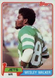 Wesley Walker Football Cards