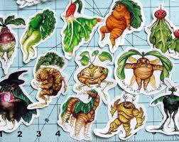Vegetable Decals Etsy