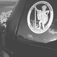 St Christopher Car Decal The Catholic Gift Store