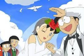 potret perjalanan cinta nobita shizuka bukti jodoh dari kecil