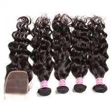 human hair bundles with closure virgin