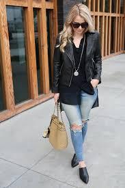 wear long shirts w leather jacket
