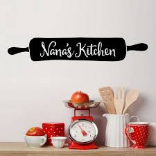 Shop Nana S Kitchen Rolling Pin Vinyl Wall Decal Overstock 29045798