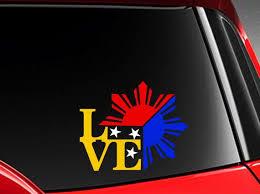 Filipino Vinyl Car Decal Sticker 4 75 W Unique I Love Etsy