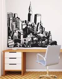 Cityscapes Vinyl Wall Art City View Wall Decal Sticker Os Mb612 Stickerbrand