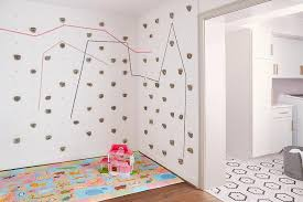 Kids Playroom With Rock Climbing Walls Transitional Girl S Room